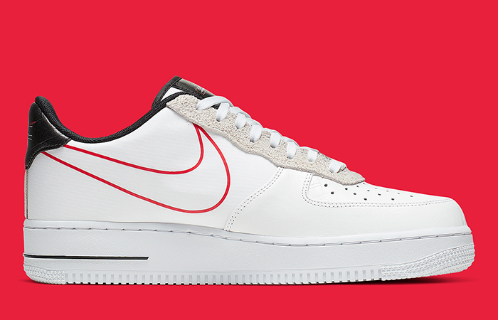 Nike Air Force 1 Script Swoosh Pack White Red 03