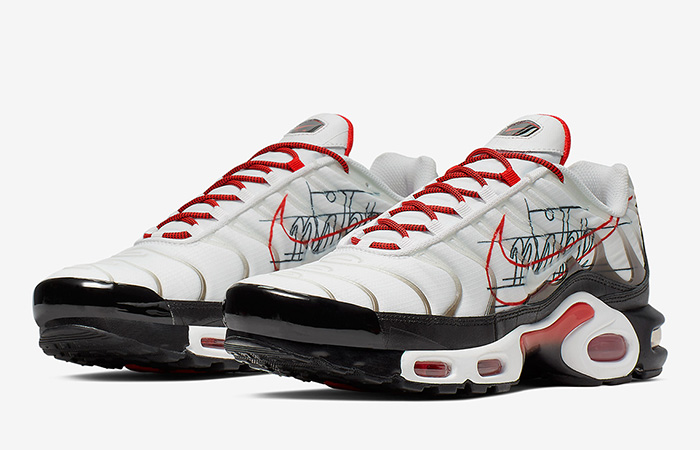 Nike Air Max Plus Script Swoosh Pack White Red 02