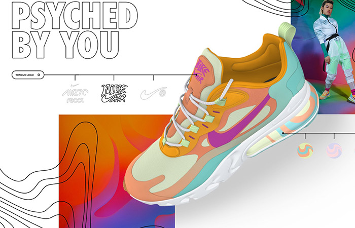 "Nike By You Air Max 270 React ""Psyched By You"" Is Realsing Soon With A Beige look ft"