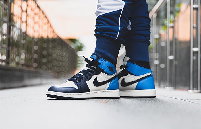 Nike Jordan 1 High Retro OG Obsidian 555088-140 on foot 01