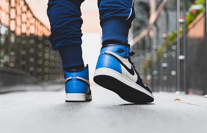 Nike Jordan 1 High Retro OG Obsidian 555088-140 on foot 03