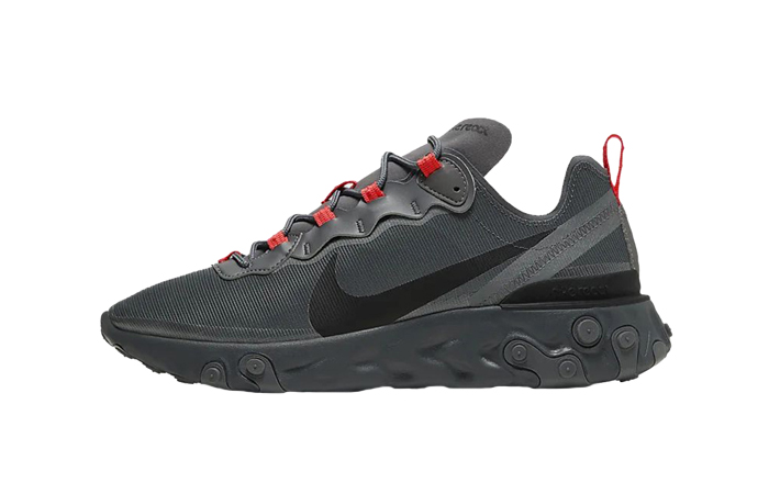 Nike React Element 55 Black Grey CQ4809-001 01