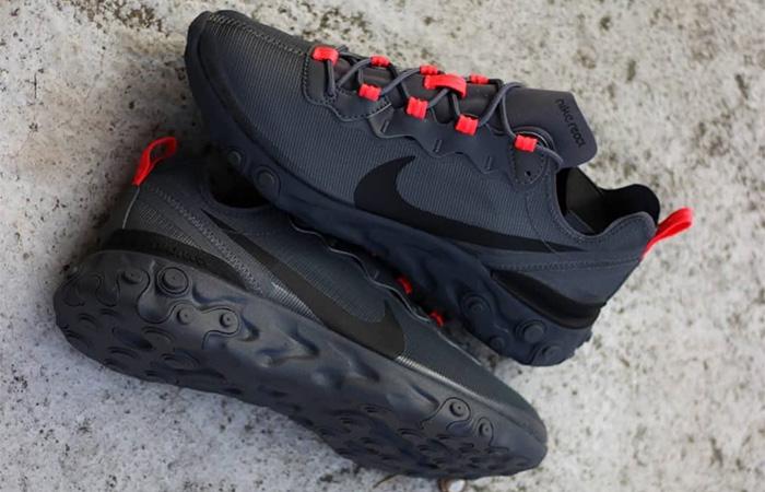 Nike React Element 55 Black Grey CQ4809-001 02