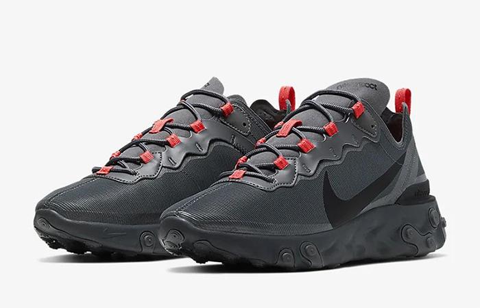 Nike React Element 55 Black Grey CQ4809-001 03