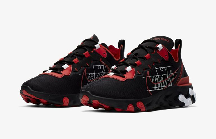 Nike React Element 55 Script Swoosh Pack Habanero Red CK9285-001 02
