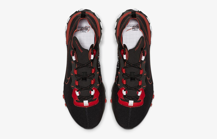 Nike React Element 55 Script Swoosh Pack Habanero Red CK9285-001
