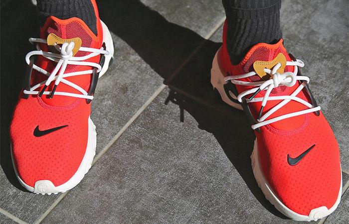 Nike React Presto Tomato Tornado AV2605-600 on foot 01