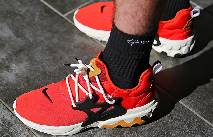 Nike React Presto Tomato Tornado AV2605-600 on foot 02