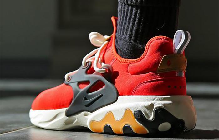 Nike React Presto Tomato Tornado AV2605-600 on foot 03