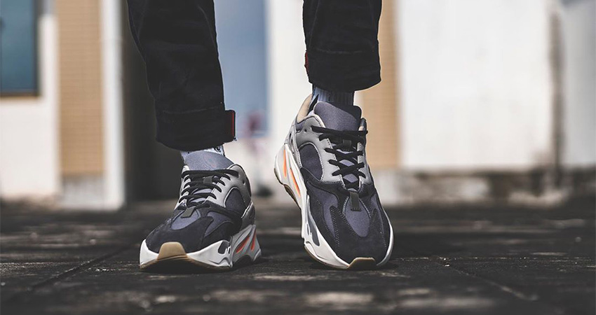 purchase cheap 57fc6 7e341 On Foot Look At The Yeezy Boost 700 Magnet – Fastsole