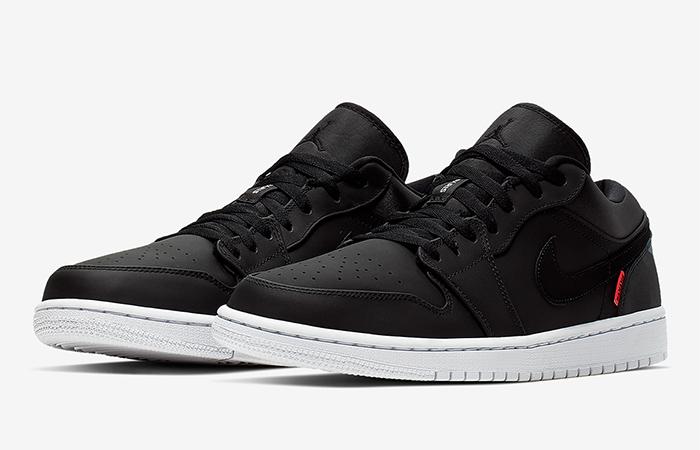 PSG Nike Air Jordan 1 Low Black CK0687-001 02