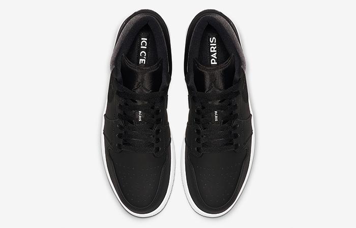 PSG Nike Air Jordan 1 Low Black CK0687-001 04