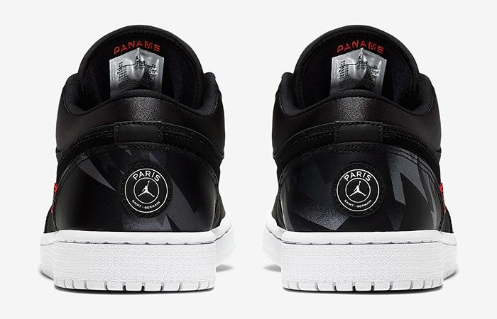 PSG Nike Air Jordan 1 Low Black CK0687-001 05