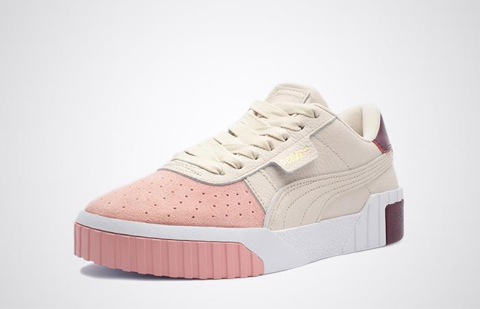 Puma Cali Remix Beige Pink 369968-01 02