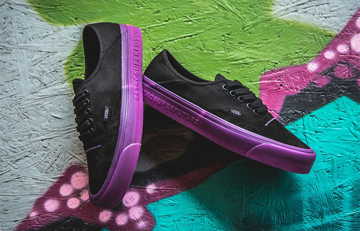 RETROSUPERFUTURE x Vans OG Style 43 XL Black Purple Exposed Its Bold Look ft