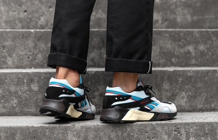 Reebok MITA Bal Aztrek Silver Black EH0403 on foot 02