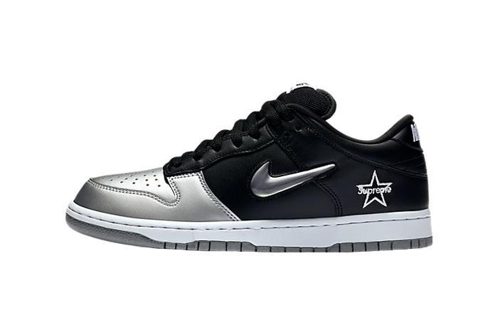Supreme Nike SB Dunk Low Black Metallic Silver CK3480-001 01