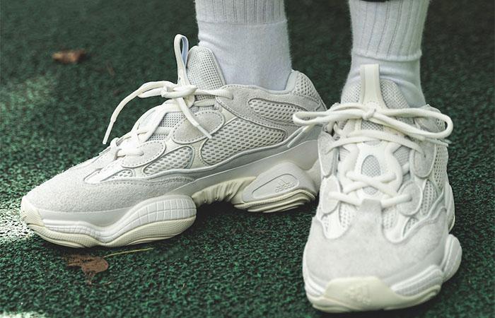 Yeezy 500 Bone White FV3573 on foot 02