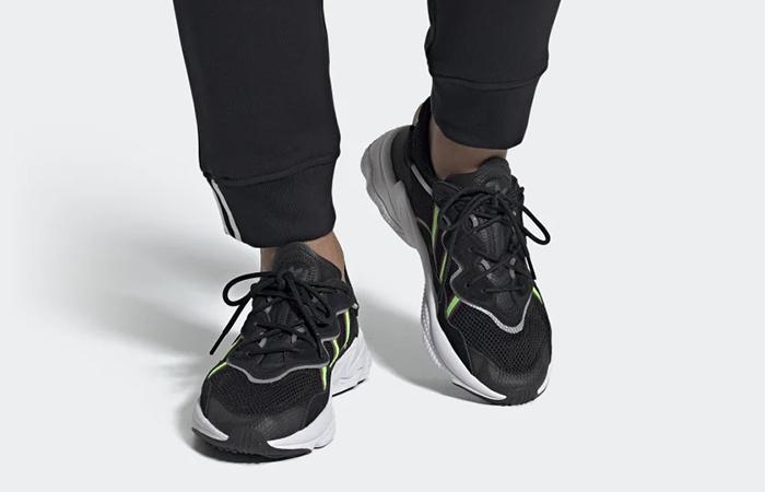 adidas Ozweego Black Green EE7002 on foot 03