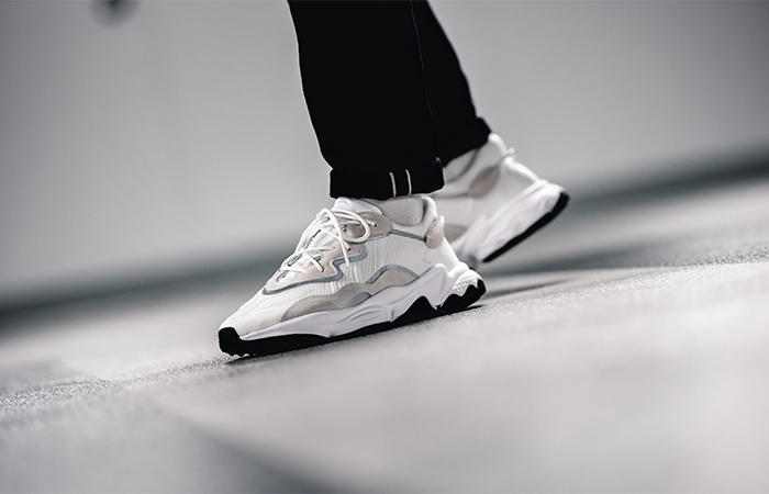 adidas Ozweego Cream White EE6464 on foot 02