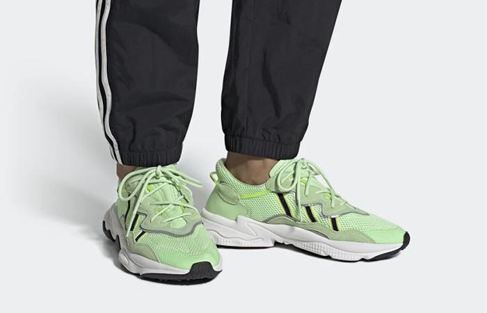 adidas Ozweego Glow Green EE6466 on foot 01