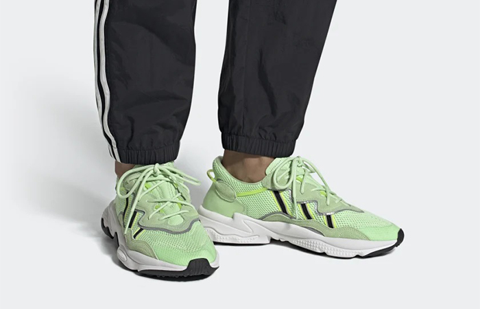 adidas Ozweego Glow Green EE6466 on foot 01