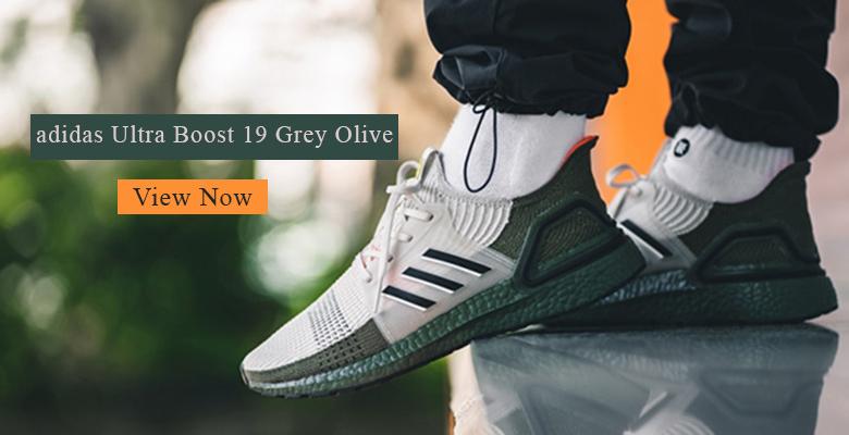adidas Ultra Boost 19 Grey Olive slider