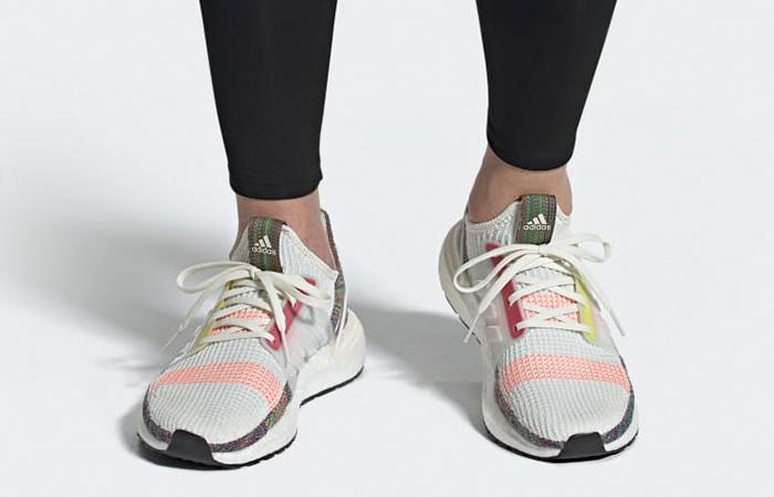 adidas Ultra Boost 19 Pride EF3675 on foot 02