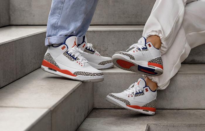 Air Jordan 3 Knicks White 136064-148 on foot 02