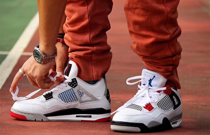 Air Jordan 4 What The White Red CI1184-146 on foot 01