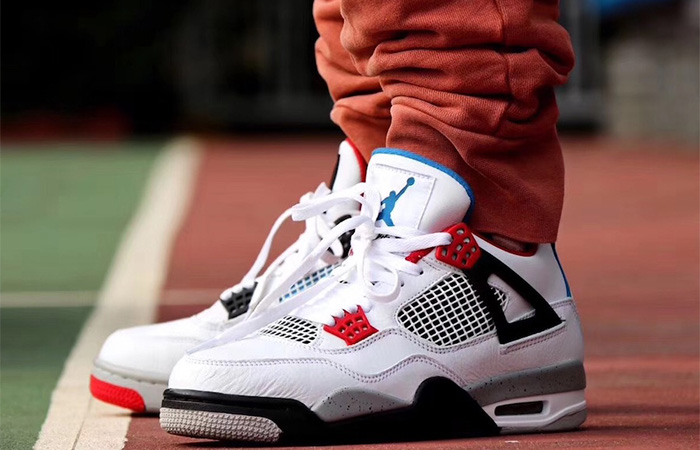 Air Jordan 4 What The White Red CI1184-146 on foot 02