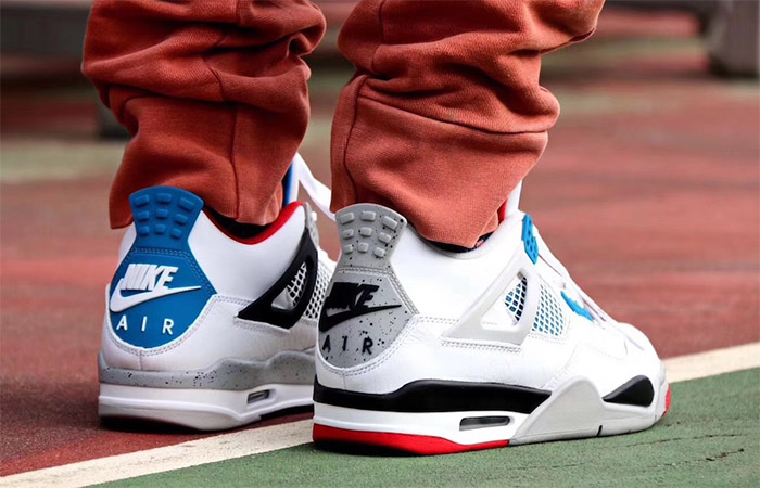 Air Jordan 4 What The White Red CI1184-146 on foot 03