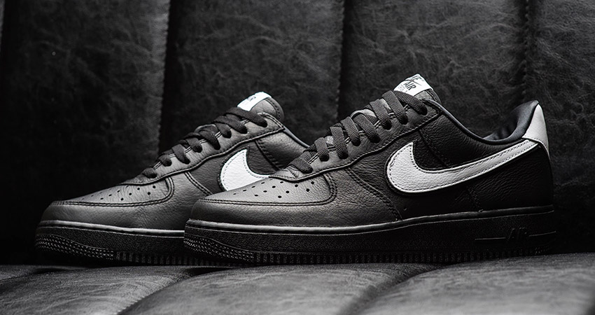 Nike Air Force 1 Low Black Leather Pack in Detail – Fastsole
