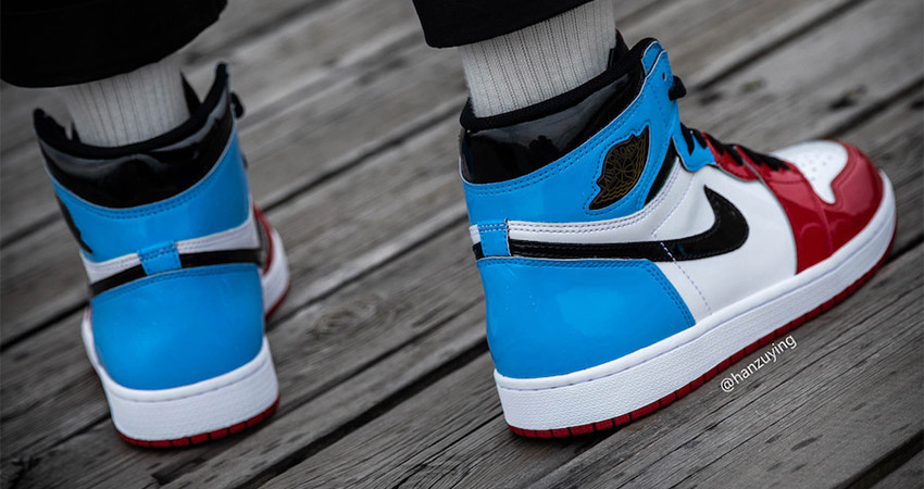 Detailed Look At The Nike Air Jordan 1 High OG Fearless Blue Red 02