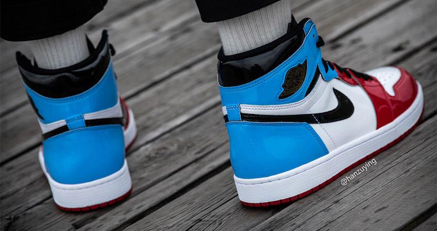 Detailed Look At The Nike Air Jordan 1 High OG Fearless Blue Red 02