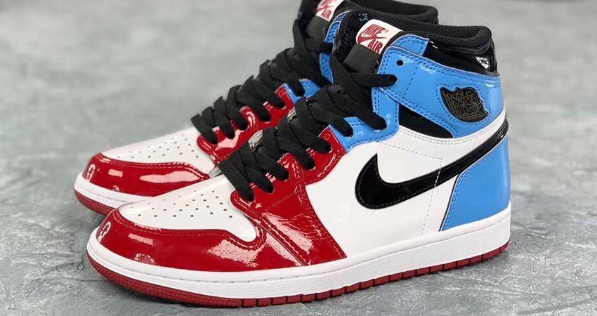 Detailed Look At The Nike Air Jordan 1 High OG Fearless Blue Red 03