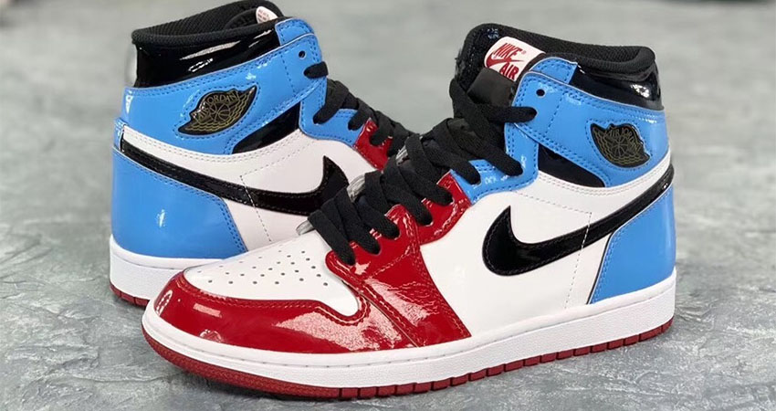 Detailed Look At The Nike Air Jordan 1 High OG Fearless Blue Red 04