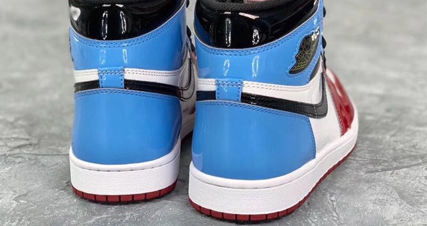 Detailed Look At The Nike Air Jordan 1 High OG Fearless Blue Red 05