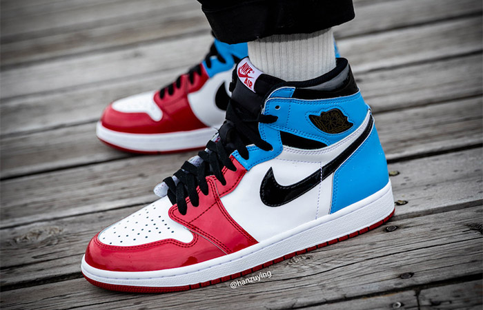 Detailed Look At The Nike Air Jordan 1 High OG Fearless Blue Red ft
