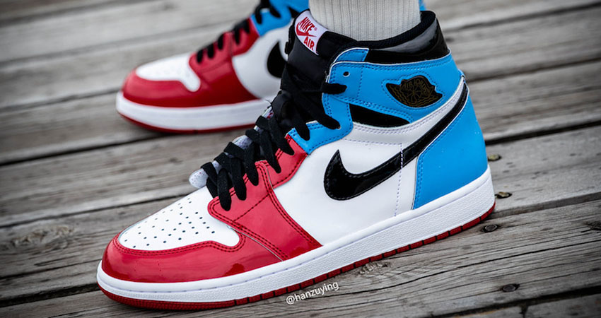 Detailed Look At The Nike Air Jordan 1 High OG Fearless Blue Red