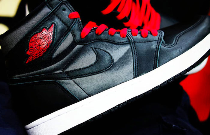 First Look Leaked For The Upcoming Air Jordan 1 Satin Black Red ft
