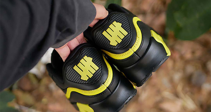 Have A Closer Look At The New Vibe UNDEFEATED Nike Air Max 90 Black Yellow Toe 01