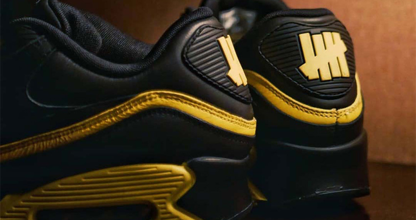 Have A Closer Look At The New Vibe UNDEFEATED Nike Air Max 90 Black Yellow Toe 03