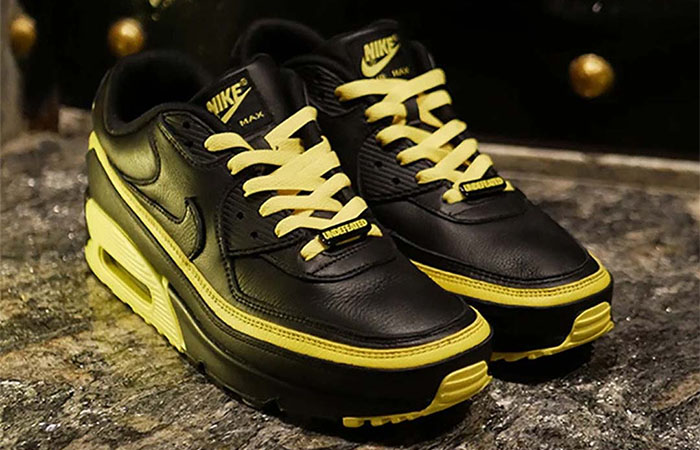 Have A Closer Look At The New Vibe UNDEFEATED Nike Air Max 90 Black Yellow Toe ft