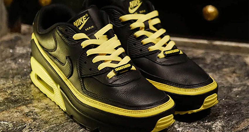 Have A Closer Look At The New Vibe UNDEFEATED Nike Air Max 90 Black Yellow Toe