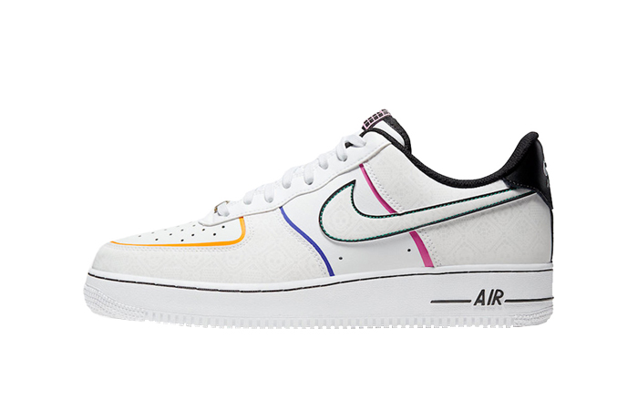 Nike Air Force 1 Day Of The Dead White Multi CT1138 100