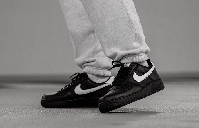 Nike Air Force 1 Retro Low QS Black CQ0492-001 on foot 01
