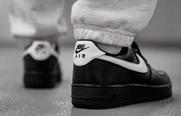Nike Air Force 1 Retro Low QS Black CQ0492-001 on foot 03