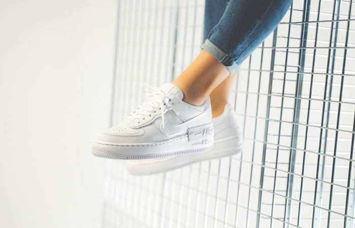Nike Air Force 1 Shadow White CI0919-100 on foot 01