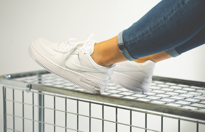 Nike Air Force 1 Shadow White CI0919-100 on foot 02